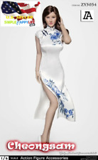 """1/6 Chinese Cheongsam White Dress Clothes for 12"""" Female Figure PHICEN ❶USA❶"""