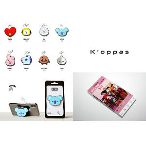 BTS BT21 Griptok Official Smart Phone Finger Grip Ring Stand Holder K-POP Goods
