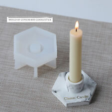 Silicone Pillar Candle Holder Mold Resin Making Epoxy Mould Casting Craft Tool