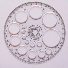 360° Plastic Protractor School Angle Measure Ruler Tool With Circle Template