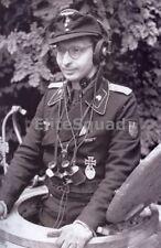 WW2 Photo German Tank Panzer Commander WWII 156