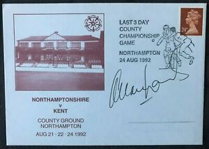 England Cricket Legend Allan Lamb Signed County Championship First Day Cover