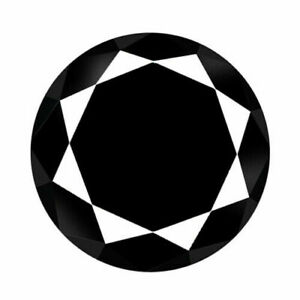 1.55 Carats NATURAL Black DIAMOND LOOSE for Setting Round Cut
