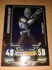 Force Attax Star Wars Serie 3 Star-Karte 209 Umbaranischer Soldat Sammelkarte