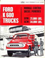 Ford K600 Trucks Australian market 1965 sales brochure