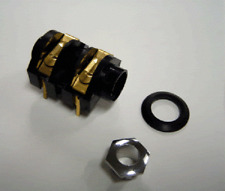 "NEW 1/4"" Input Mono Jack Socket GOLD S4/BNB PC Mount Cliff CL13103 Qty = 5"