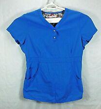 KOI by Kathy Peterson Women's Scrub Top Solid Blue, Size: XL
