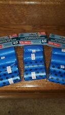 New listing Greenbrier Kennel Club Dog Waste Bags 12 Rolls 180 Bags Blue. Lot of 3,