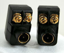 Set of Two Quick Connect F Plug Transformer 300 ohm-75 ohm Gold Contacts