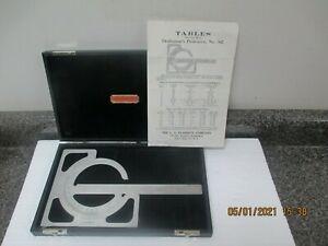 L.S. Starrett Draftsman's Protractor Tool No. 362/Case & Paperwork! No Reserve!
