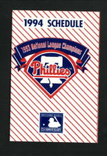 Philadelphia Phillies--1994 Pocket Schedule--Pizza Hut