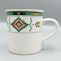 "Studio Nova Adirondack Coffee Mug 3-3/4"" Southwest Aztec Mikasa AS IS Chip"
