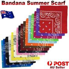 BANDANA Paisley 100% COTTON Head Wrap Durag Bandanna Summer Scarf Headwrap Mask