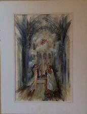 DLG courant Symbolisme: Offrande céleste par J.Femme déb XXème Monog CRB  gouach