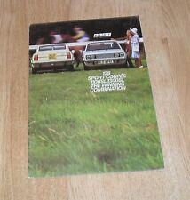 Fiat 128 Sport Coupe 1100SL & 1300SL FOLLETO 1973