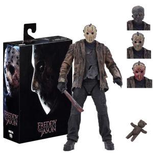"NECA Horror Freddy VS Jason Action Figure 7"" Jason Voorhees Deluxe Toy Gift Set"