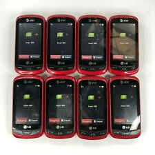 Lot of 8 - LG Xpression C395 Red (Unlocked) 3G Qwerty Keyboard Touch Cell Phone