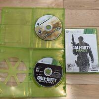 Call Of Duty Bundle Lot (3)Games Black Ops Modern Warfare Xbox 360 FAST SHIPPED