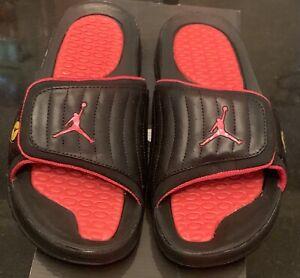 Jordan hydro 2 slide 456524 001 black varsity red size 9