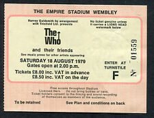 1979 The Who Are You AC/DC Bon Scott Concert Ticket Stub London Wembley UK
