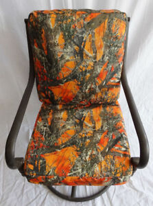 """Set of 6 Outdoor Patio/Pool Chair Cushion Covers, 20"""" x 20"""" (or smaller) Orange"""