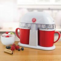 Electric Ice Cream Machine Frozen Yoghurt Galeto Sorbet Dessert Maker Twin Cup