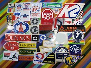 vtg 1970s Ski Skiing sticker - K2 Swallow Look Olin Roffe Rossignol Tecnica +