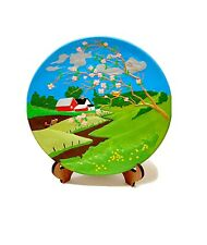 Hand Painted Ceramic Display Decorative Plate For Home Decoration