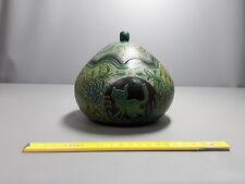 ancien pot peint ton vert vide poche origine a définir