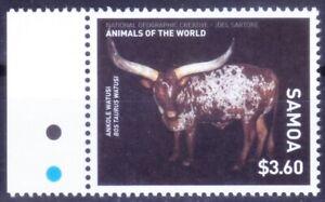 Samoa 2016 MNH, Ankole Watusi American breed of domestic cattle, Animals