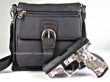 Purse Concealed Carry Concealment Black Locking Gun Bag plus FREE GIFTS CCW