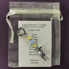 KINGFISHER BIRD CHARM Pocket Amulet Talisman Magick Symbol Halcyon Kookaburra