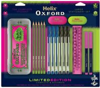 Helix Oxford Complete & Accurate PINK Limited Edition Maths LARGE Stationery Set