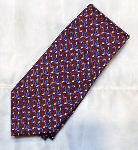 NEW BROOKS BROTHERS [ MAKER & MERCHANTS ] men's tie 100% Silk Made in USA