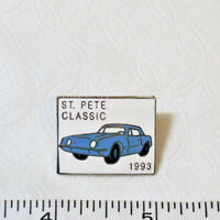 St. Pete Classic car 1993 C Sanders Hat pin advertising hat lapel pin