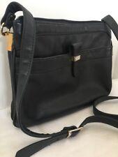 Purse Giani Bernini Dark Navy Leather Crossbody Purse Supple Leather Adjustable