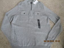 Men's Apt. 9 Long sleeve Half-zip Sweater Size Med Gray New with tags