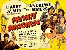 ADVERT MOVIE FILM MUSICAL PRIVATE BUCKAROO ANDREWS SISTERS PRINT POSTER BB7547