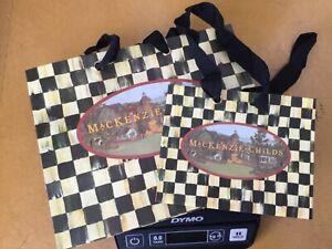 New MacKenzie-Childs Gift Bags - Med & Sm. Set/2