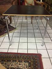TISCH Küchen Schreibtisch Büro  schwarz  Design ORIGINAL 70er Jahre  chrom holz