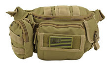 Tactical Fanny Pack MOLLE Pouch EDC Urban Medic Survival Hiking Camp Bag TAN*