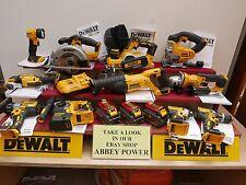 DEWALT XR 18V 11 KIT COMBO DCP580 DCS355 DCH273 DCS391 ETC 6 AH FLEXVOLT + BAGS