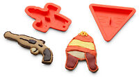 NIB Firefly Serenity Cookie Cutters -Jayne Hat, Mal's Gun, Ship, Browncoat Patch