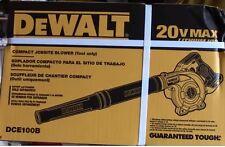 NEW DEWALT DCE100B 20V 20 volt Lith-Ion Cordless Compact Jobsite Blower BareTool