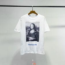 OFF-WHITE Mona Lisa Print Men's Short Sleeve T-Shirt Cotton Unisex Tee Tops X