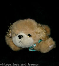 VINTAGE 1993 TYCO PUPPY PUPPY PUPPIES STUFFED ANIMAL PLUSH TOY PUP DOG BOW TAN