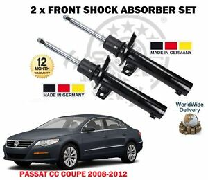 FOR VW PASSAT CC COUPE 2008-2012 2X FRONT SHOCK ABSORBER SHOCKER SET