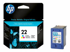 Genuine HP 22 Tri-Color Original Printer Ink Cartridges