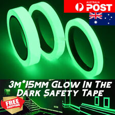 3M x 15mm Luminous Tape - Safety or Decorative Glow In The Dark Self Adhesive