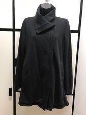 Eileen Fisher PS Cotton Spandex Funnel Collar Front Asymmetric Zipper Jacket